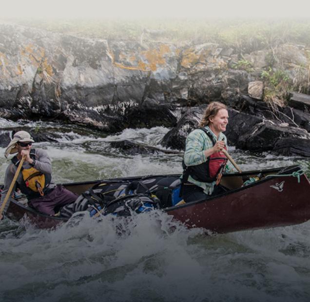 recreotional 2 person lightweight canoe